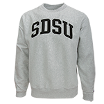SDSU Heavy Crew Sweatshirt-Gray