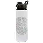 Aztec Calendar Water Bottle-White