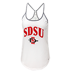 Under Armour Women's SDSU Strappy Tank-White