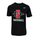 Nike SD Spear Baseball Tee-Black