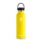 Hydro Flask 21 oz Standard Mouth Flex Cap-Lemon