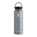 Hydro Flask 40 oz Wide Mouth Bottle-Graphite