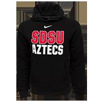 Nike SDSU Aztecs Hood Sweatshirt-Black be87e75c5