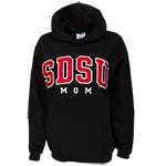 SDSU Mom Hooded Sweatshirt-Black