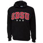 SDSU Dad Pullover sweatshirt-Black