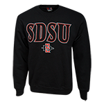 SDSU SD Spear Crew Sweatshirt-Black