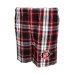 SD Spear Flannel Boxer Short-Red Black and White