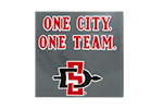 One City One Team Decal-Clear