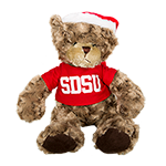 SDSU Holiday Plush Charlie Bear