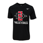 Nike SD Spear Volleyball Tee-Black