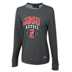 Women's Under Armour SDSU Long Sleeve Tee-Gray