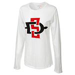 Women's SD Spear Long Sleeve Tee-White
