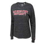 Women's San Diego State University Long Sleeve Tee-Charcoal