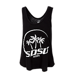 SDSU Aztecs Soft Crop Tank-Black