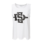 Women's SD Spear Tank-White