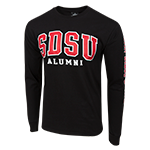 SDSU Alumni Long Sleeve Tee-Black