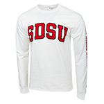 SDSU Classic Long Sleeve Tee- White