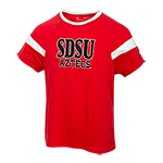 Youth Girls Under Armour SDSU Tee-Red