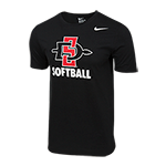 SD Spear Softball Tee-Black