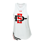 Women's Under Armour SD Spear Tank-White