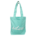 SDSU Canvas Tote Bag-Mint
