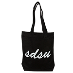 SDSU Canvas Tote Bag-Black