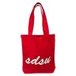 SDSU Canvas Tote Bag-Red