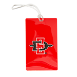 SD Spear Vinyl Luggage Tag-Red
