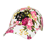 SD Spear Floral Adjustable Cap-White