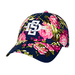 SD Spear Floral Adjustable Cap-Navy Blue