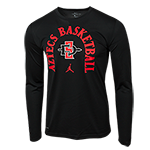 Nike Jordan Aztec Basketball Long Sleeve Tee- Black