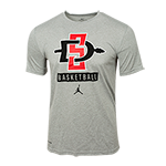 Nike Jordan SD Spear Basketball Tee-Gray