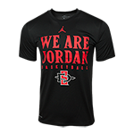 Nike We Are Jordan Basketball Tee-Black