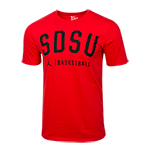 Nike Jordan SDSU Basketball Tee-Red