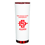 San Diego State University Alumni Travel Tumbler-White