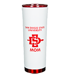 San Diego State University Mom Travel Tumbler-White