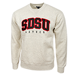SDSU Aztecs Crew Sweatshirt-Cream