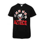 Toddler SDSU Aztecs Snoopy Flags Tee-Black
