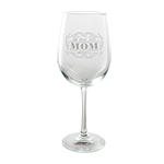 San Diego State University Mom Wine Glass
