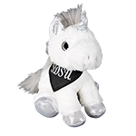SDSU Plush Unicorn-Silver