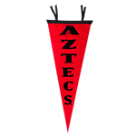 Aztecs Pennant-Red