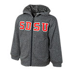 Toddler SDSU Zip Hood Sweatshirt-Grey