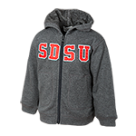 Infant SDSU Zip Hood Sweatshirt-Grey