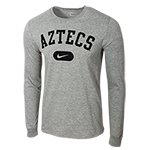 Nike Aztecs Long Sleeve Tee-Gray