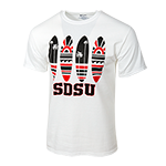 SDSU Surfboards Tee-White
