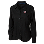 Women's Cutter & Buck SD Spear Dress Shirt-Black