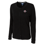 Women's Cutter & Buck SD Spear Cardigan-Black