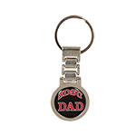 SDSU Dad Metal Link Keytag-Black