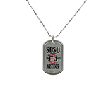 SDSU Aztecs Dogtag Necklace-Silver