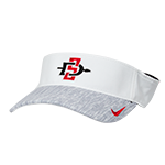 2018 Nike SD Spear Sideline Adjustable Visor-White & Gray